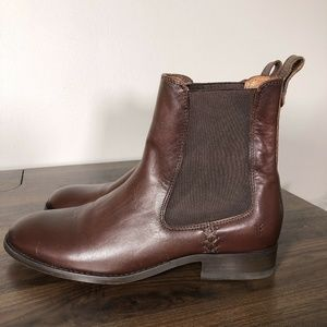 New Frye Melissa Chelsea Boots Size 7 Redwood